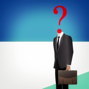 Where to go from here - Headless businessman with question mark
